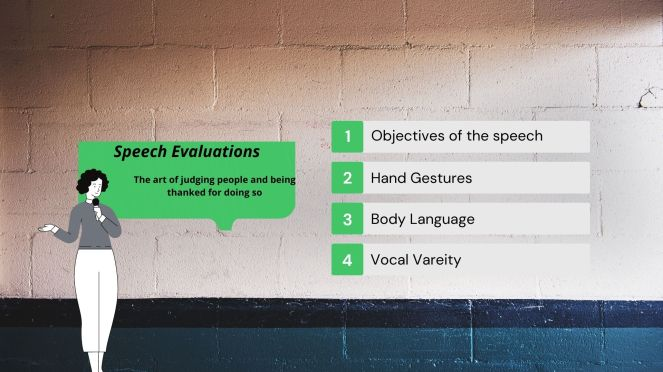 Speech Evaluations in Toastmasters