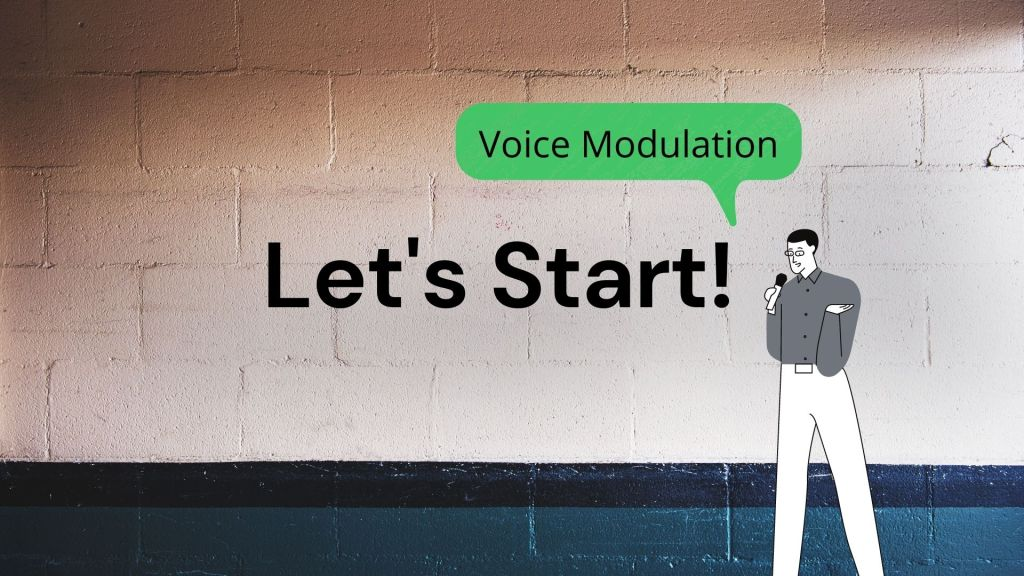 Evaluating the voice modulation in a speech